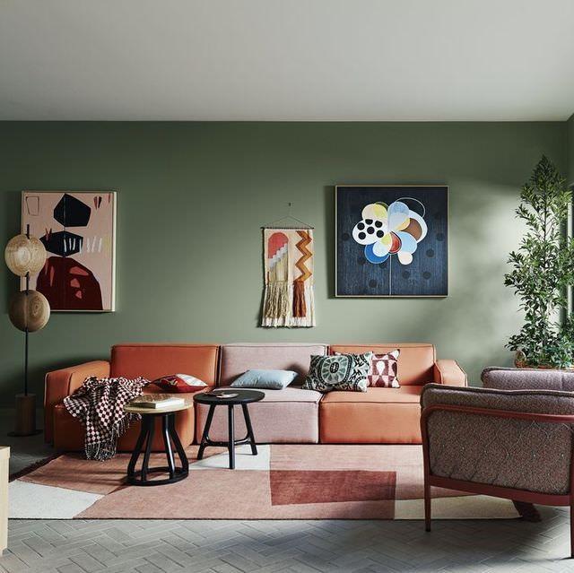 چطور با رنگ گرم فضای خانه را آرامبخش سازیم؟  عکس